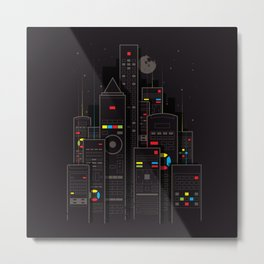 Remote City Metal Print