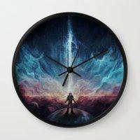 interstellar Wall Clocks featuring Interstellar by jasric