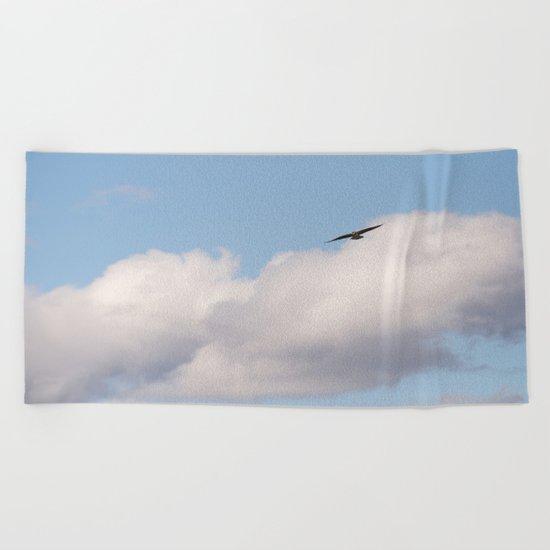 Osprey in Sky Beach Towel
