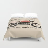 oil Duvet Covers featuring oil by The Junkers