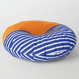 Orange Split Sun Floor Pillow
