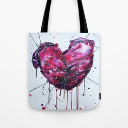 Fused Hearts Tote Bag