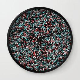 Abstract Swirl R/W/B/B Wall Clock