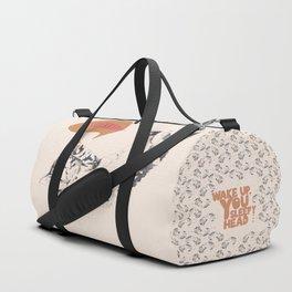 Wake Up Tiger - Beige Duffle Bag