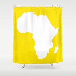Golden Yellow Audacious Africa Shower Curtain