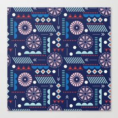 GEOMETRIC NAVY Canvas Print