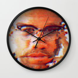 Malcolm X Wall Clock
