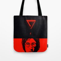 imagine Tote Bags featuring Imagine by nicebleed