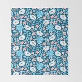Sea Bunnies Throw Blanket