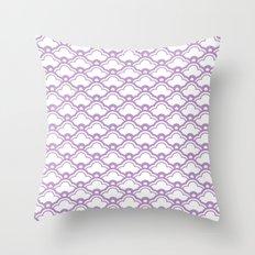 matsukata in african violet Throw Pillow