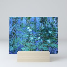 Claude Monet Water Lilies BLUE Mini Art Print