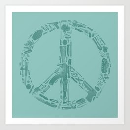 Find Peace (Green) Art Print