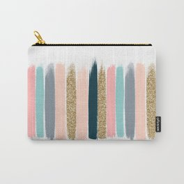 Zara - Brushstroke glitter trendy girly art print and phone case for young trendy girls Carry-All Pouch