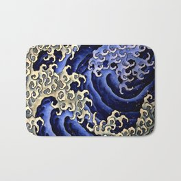 "Hokusai (1760–1849) ""Masculine wave"" Bath Mat"