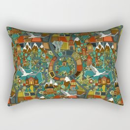 twisty turny love Rectangular Pillow
