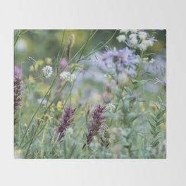Wildflowers on the Mountain Throw Blanket