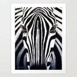 Zebra Acrylic Painting Art Print