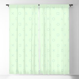 Pastel Mint Gamer - Playstation Controller Buttons Blackout Curtain