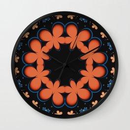 Orange Circlet Wall Clock