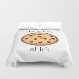 Circle of Life ... Pizza Duvet Cover