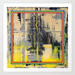 Sunday Morning - colour frame Art Print