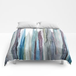 watercolor drips Comforters