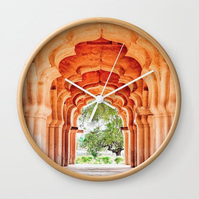 Lotus Mahal. Hampi.India. Wall Clock