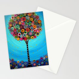 Tree of Life by Pristine Cartera Turkus Stationery Cards