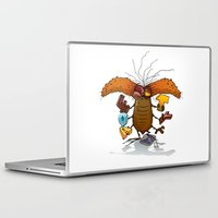 bookworm Laptop & iPad Skins featuring Bookworm by Tayfun Sezer