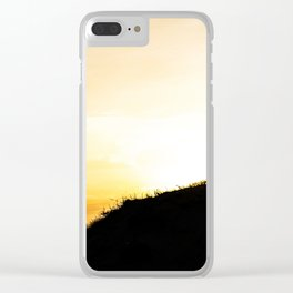 Sun is going down Clear iPhone Case