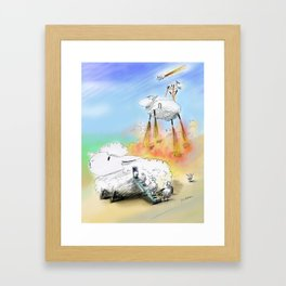For a Moment I Thought They Weren't Coming  Framed Art Print