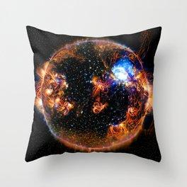 Solar Weather Of A Dark Star Throw Pillow