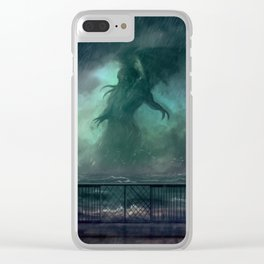 Cthulhu Rises Clear iPhone Case