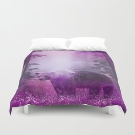 Fairy bear out of the woods Duvet Cover