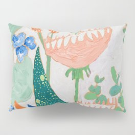 Proteas and Birds of Paradise Painting Pillow Sham