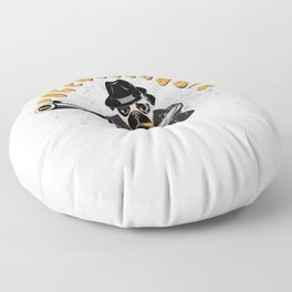 Italian Mafia Pug Gift for Pug Owners Floor Pillow