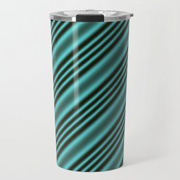 Black and Teal Modern Stripes Travel Mug