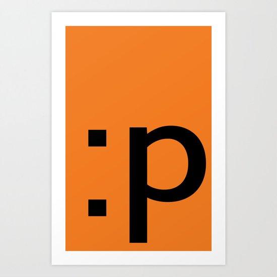 :p Art Print