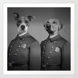 Crime Fighting Pooches Art Print