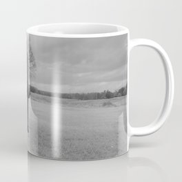 Chancellorsville Cannon Civil War Battlefield Virginia Black and White Photography  Coffee Mug