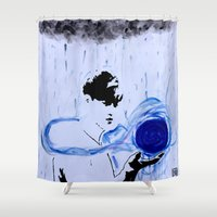 kpop Shower Curtains featuring Water, Suho? by Ahri Tao