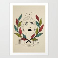 Little Miss Scatterbrain Art Print