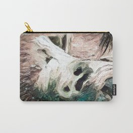 Halloween. A dead stump in a forest. Uncanny Carry-All Pouch