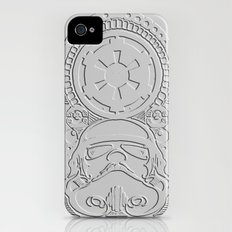 stormtrooper Polynesian tribal iPhone (4, 4s) Slim Case