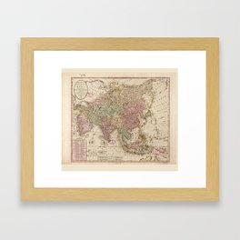 Bowles's Map of Asia (1791) Framed Art Print