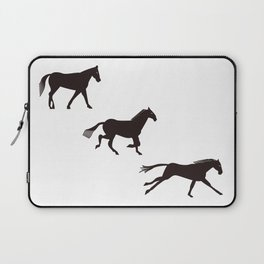 a horse runs Laptop Sleeve