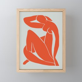 Blue Nude in Orange - Henri Matisse Framed Mini Art Print