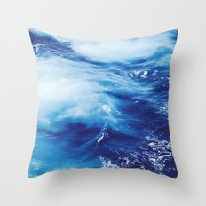 Ocean #blue Throw Pillow