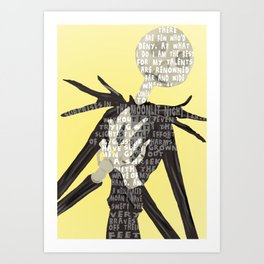 Jack Skellington's Lament Art Print
