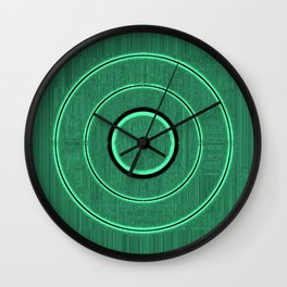 green frequency Wall Clock